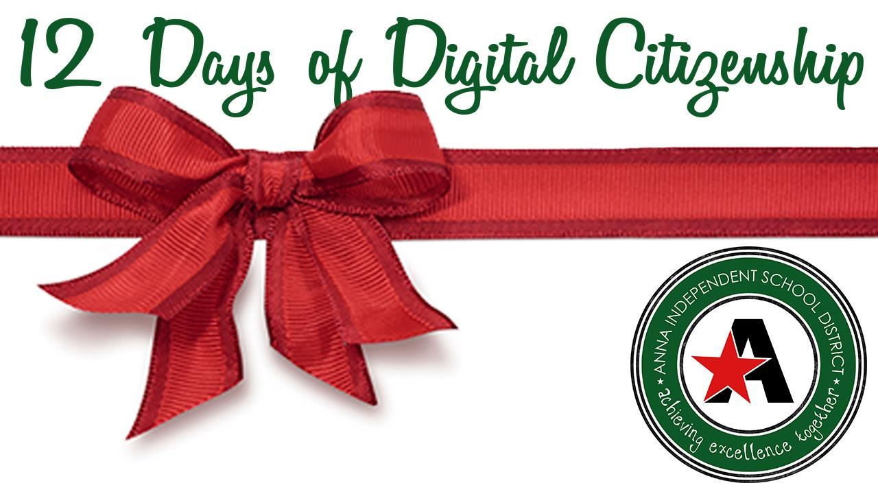 12 days digital citizenship title slide